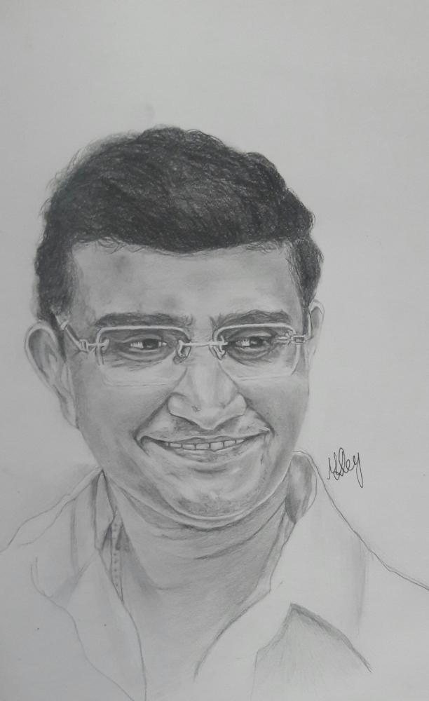 Sourav Ganguly by Munmun